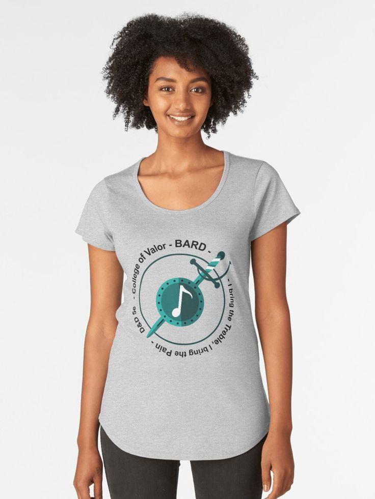 'D&D Sub-classes: College of Valor' Premium Scoop T-Shirt by 3DApparel