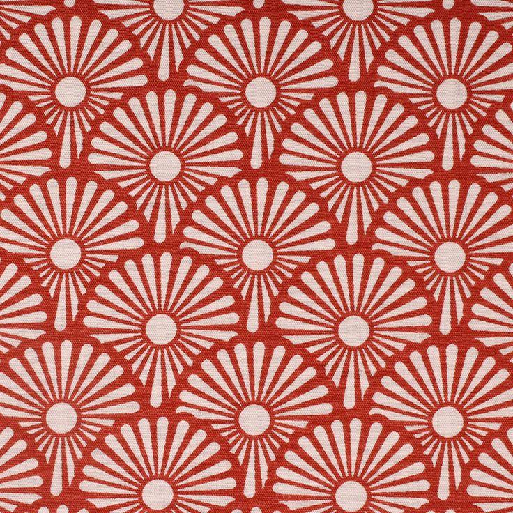 Blowballs cotone rosso bruciato tessuto rosso stoffa Soft Cactus