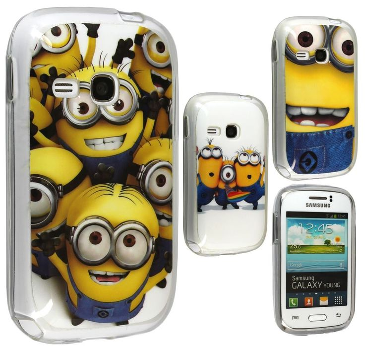 Lovely Minion TPU Gel Skin Back Case Cover For Samsung Galaxy Young s6310 s6312
