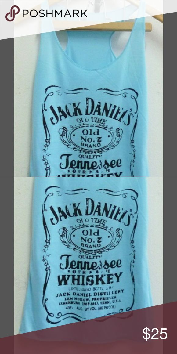 Jack Daniels tank top Unique blue Jack Daniels tank top. Lightweight material Tops Tank Tops