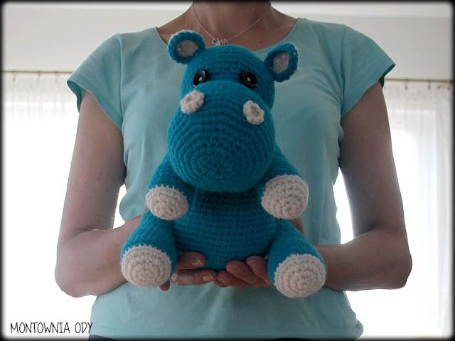 Montownia Ody: Hipcio - moje pierwsze amigurumi