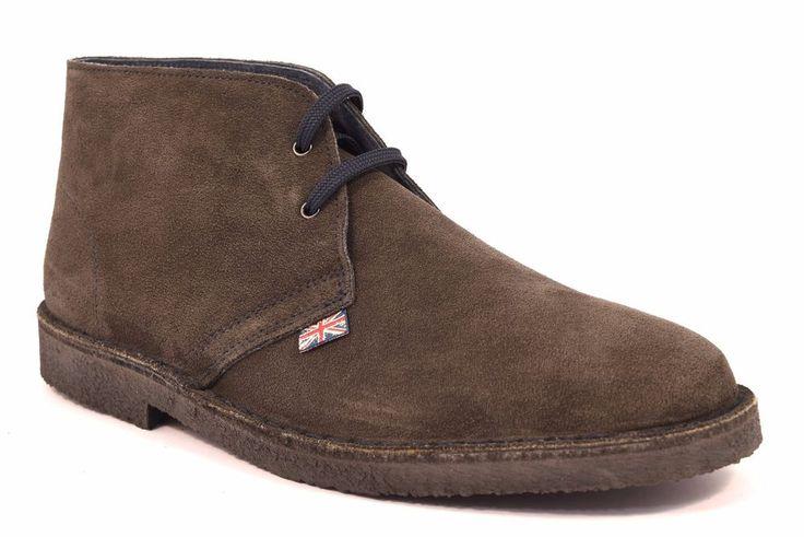 Scarpe Tipo Desert Boot Clarks Polacchino Grigio Scuro Uomo SAFARI NATURAL 87000