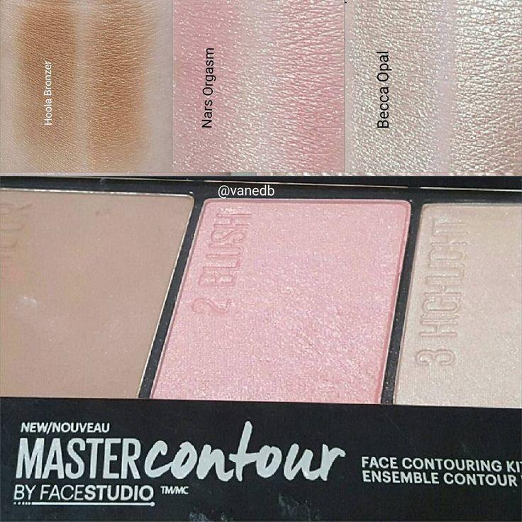 Benefit Hoola, NARS Orgasm & Becca Opal dupe (3 in 1!): Maybelline MasterContour palette