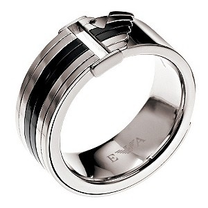 Armani Men S Stainless Steel Ring Size U Product Number 8740682