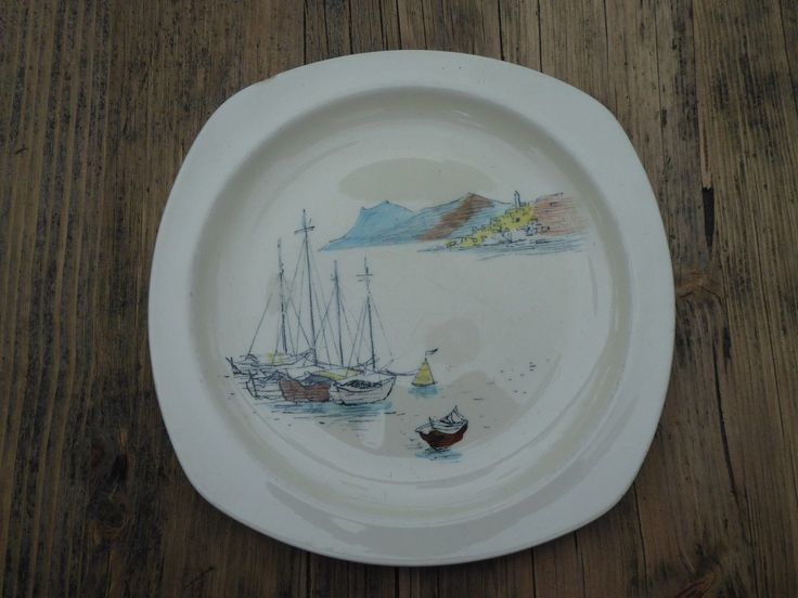 VINTAGE MIDWINTER HUGH CASSON.RIVIERA.FASHION SHAPE STYLECRAFT.RARE.1950s PLATE | eBay
