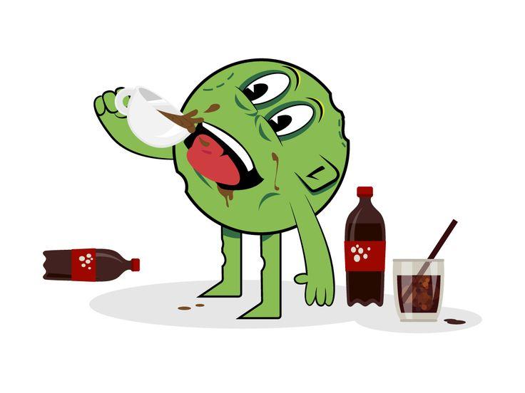 Zombie Cafeína  Tus ataques no son acertados porque te pones de cafeína hasta las cejas. Ésa es la razón por la que nadie quiere que formes parte de su equipo zombie. Para colmo, te has pedido para reyes un termito de café en el que, a veces, metes también la coca-cola. Tu adicción a la cafeína te aleja del mundo y te genera ansiedad. Olvídala. No eres Dios ni con ella ni sin ella.  www.los3guisantes.es