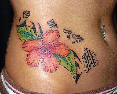 35 Overwhelming Hawaiian Flower Tattoos | CreativeFan