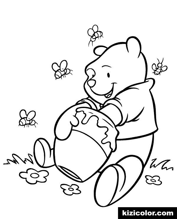 - Winnie The Pooh Coloring 🎨 Winnie Pooh Colouring Books 10 Kizi Free 2020  Printable In 2020 Bear Coloring Pages, Bee Coloring Pages, Disney Coloring  Pages