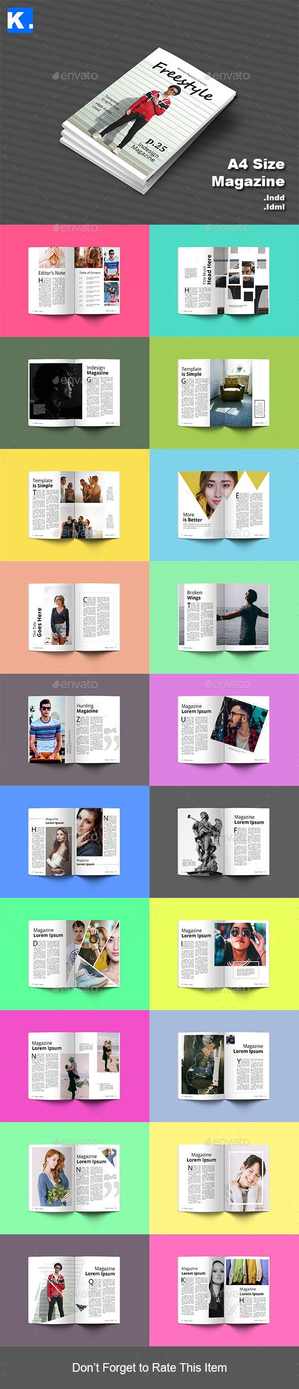 Indesign Magazine Template InDesign INDD