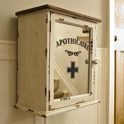 Cream Wall Mounted Bathroom Cabinet En 2020 Armoire A Pharmacie Salle De Bains Shabby Chic Armoires Murales Salle De Bains