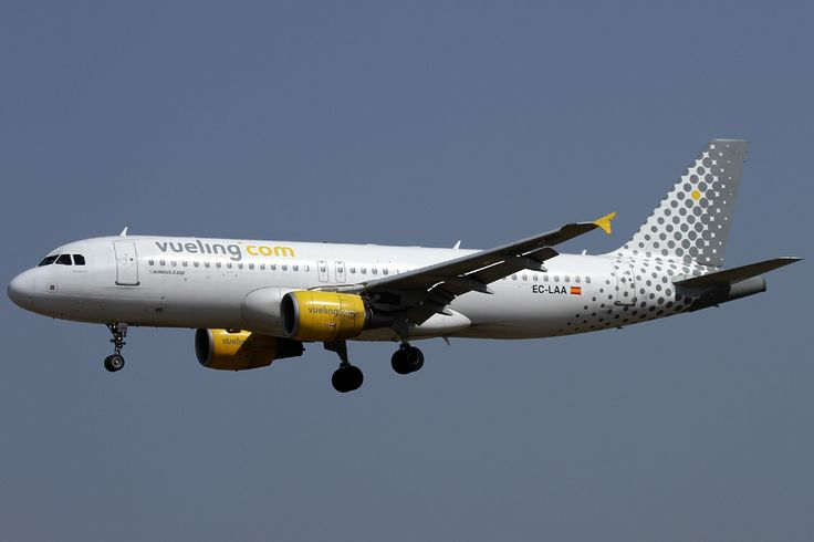 Vueling Airlines of Spain, shown A320-214. Vueling Airlines, S.A. is a Spanish low-cost airline based at El Prat de Llobregat in Greater Barcelona with hubs in Barcelona–El Prat Airport and Leonardo da Vinci–Fiumicino Airport in Rome, Italy. Its name comes from the Spanish word Vuelo, which means flight. There are thirteen additional bases at A Coruña, Alicante, Amsterdam, Bilbao, Brussels, Florence, Madrid, Málaga, Palma de Mallorca, Paris-Orly, Santiago de Compostela, Seville and Valencia…