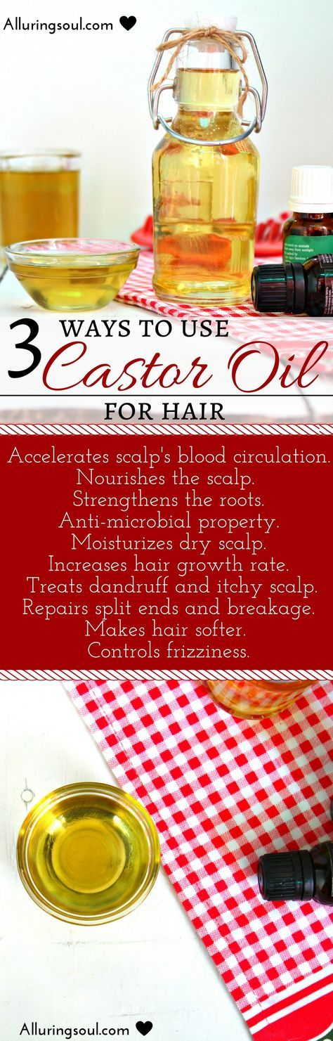 Castor oil for hair is one of the best oil to increase growth rate of hair, calms dry and itchy scalp, removes dandruff and all types of hair woes. There are 3 simple ways to use castor oil for hair by mixing other powerful ingredients which makes the oil more effective to perform on your scalp.