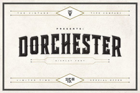 Dorchester Display Font by Vintage Type Co. on @creativemarket