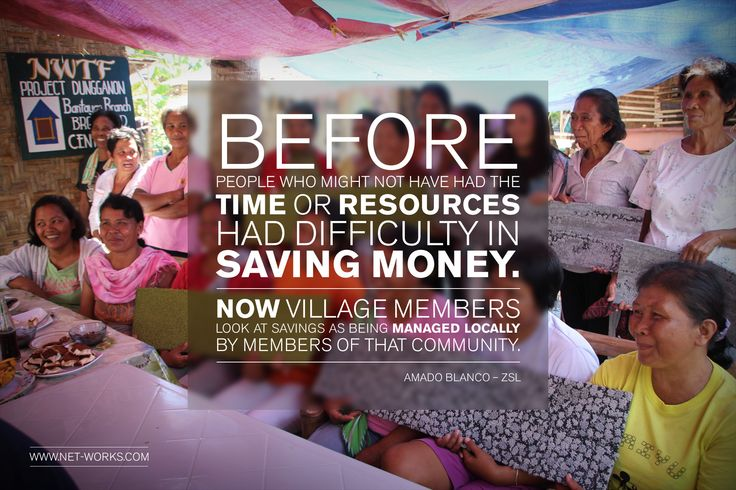 Net-works has provided a financial infrastructure for people so they can start saving money. #social #enterprise #socent #nets2carpet #financial #infrastructure #Philippines