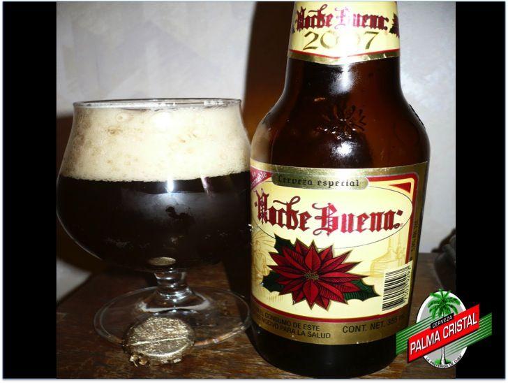 """CERVEZA PALMA CRISTAL. La cerveza Noche Buena, de la cervecería Moctezuma, fue la primera bebida del tipo """"Bock"""" que se elaboró en México. Es una cerveza obscura con cuerpo robusto, excelente para consumirse en la época invernal; contiene 5.9 grados de alcohol y la presentación de su envase es mediano. www.cervezasdecuba.com"""