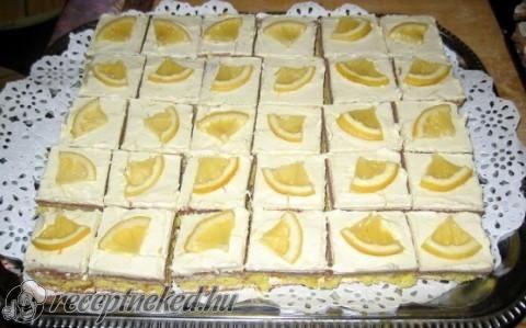 Vendégváró citromos szelet recept fotóval