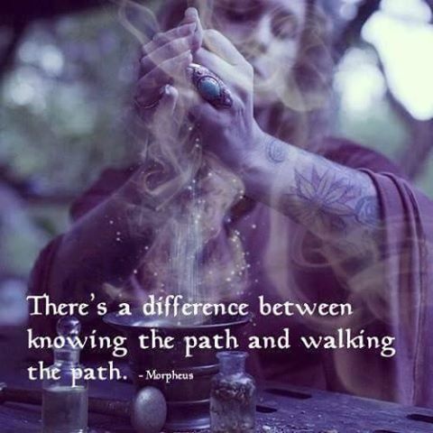 There's a difference between knowing the path and walking the path. -Morpheus