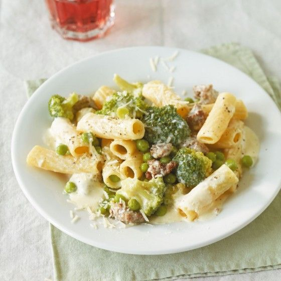 ESSEN & TRINKEN - Broccoli-Erbsen-Pasta Rezept