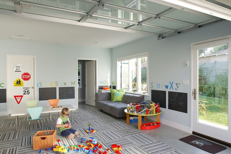 Convert a garage into a children's playroom   Best Remodeled Home – Fine Homebuilding's 2014 HOUSES Awards - http://www.finehomebuilding.com/houseawards/2014/best-remodel
