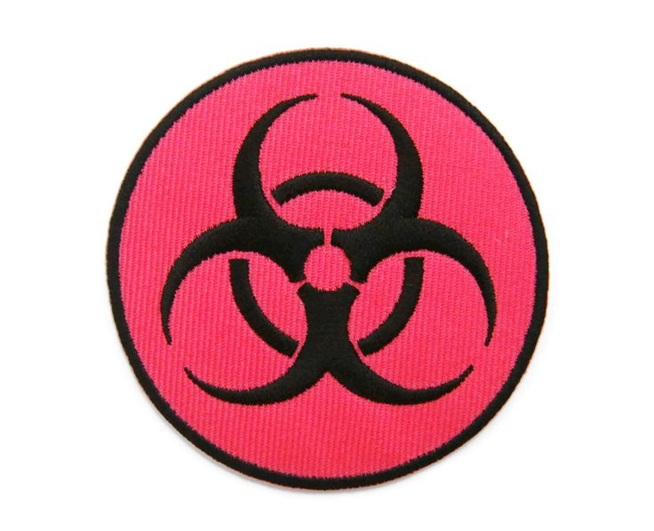 Biohazard Symbol Danger Warning Sign Logo Embroidered Iron On Patch by MizCozy on Etsy https://www.etsy.com/listing/487928325/biohazard-symbol-danger-warning-sign