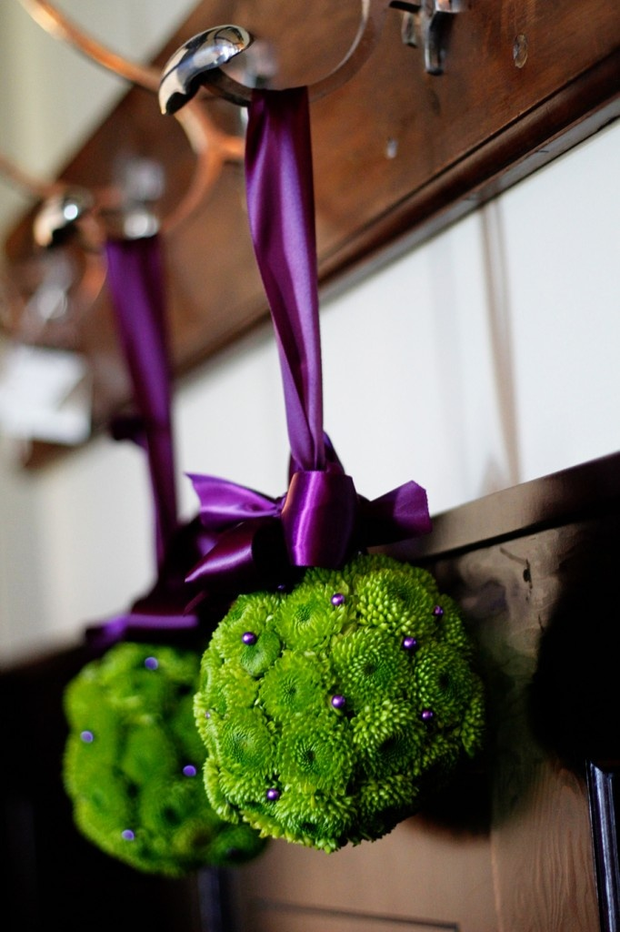 Purple Balls For Decoration Beauteous 221 Best Kissing Balls Images On Pinterest  Floral Arrangements Review