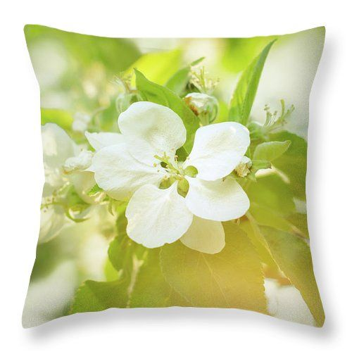 "Springtime - Blooming Tree - 5, Tone 1 Throw Pillow by Jane Star.  Our throw pillows are made from 100% spun polyester poplin fabric and add a stylish statement to any room.  Pillows are available in sizes from 14"" x 14"" up to 26"" x 26"".  Each pillow is printed on both sides (same image) and includes a concealed zipper and removable insert (if selected) for easy cleaning."