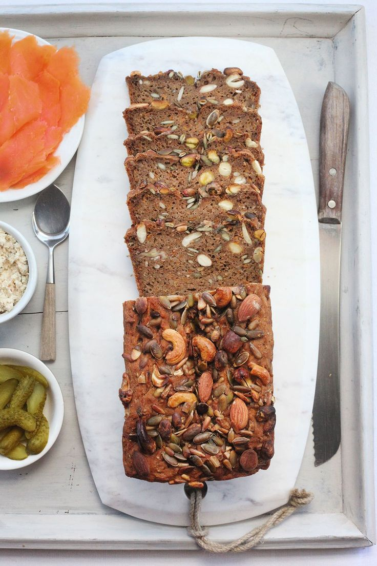 Gluten Free Carrot & Caraway Bread #healthy #bread #recipe