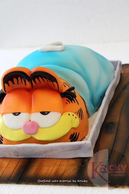 Garfield cake tutorial - via http://krickykonyhaja.blogspot.com