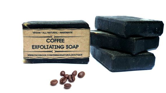 Handmade Coffee Soap Coffee Scrub by EminaBotanicBoutique on Etsy