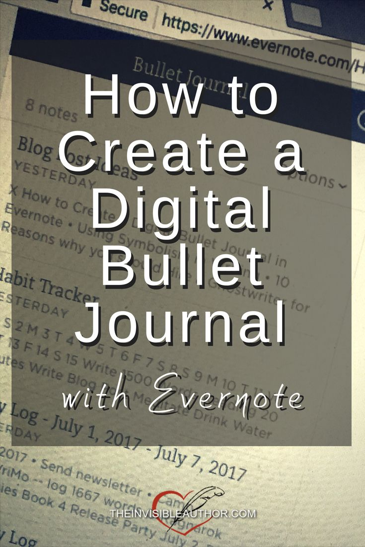 How to Create a Digital Bullet Journal with Evernote