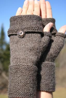 Oxford Mitts: commercial pattern fron Knitpick,  The ends of the mittens can be…