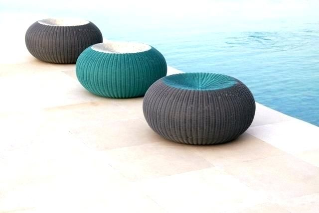 Pleasing Outdoor Pouf Ottoman Design Of Modern Round Footstools And Machost Co Dining Chair Design Ideas Machostcouk