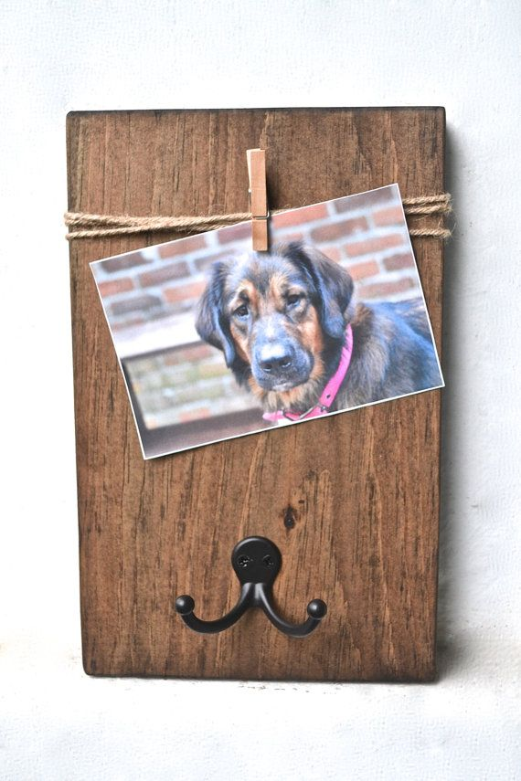 Dog Leash Holder Dog Lover Gift Dog Leash Hanger by CratesAndPine
