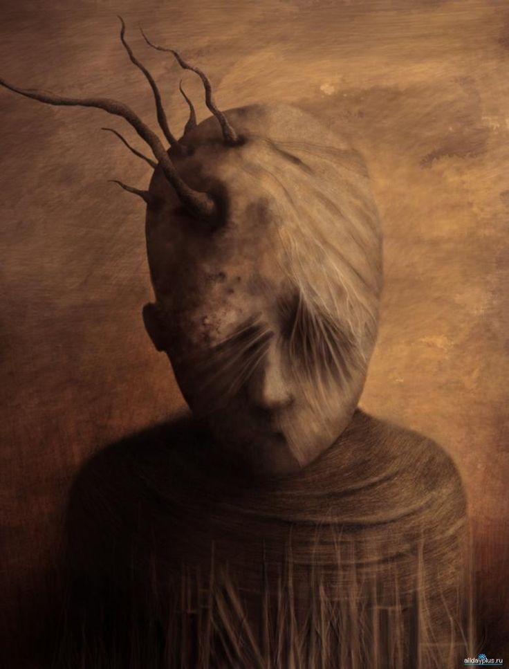 Hrôzostrašné a depresívne postavy plné strachu a temnoty od talentovaného maliara