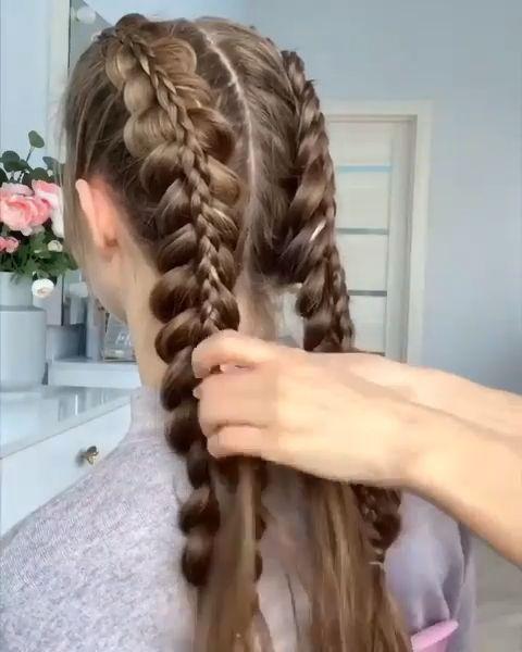 DOUBLE BRAIDS TUTORIAL -  Long hair make the coolest braids!  - #braids #double #makeuptutorialforbeginners #makeuptutorialvideo #tutorial