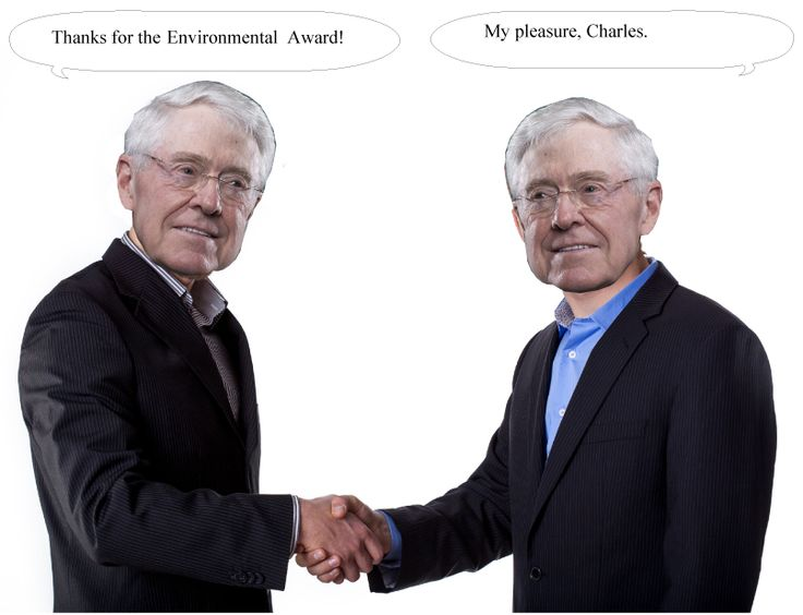 Explaining how Koch Industries gets those awards for Environmental Excellence.