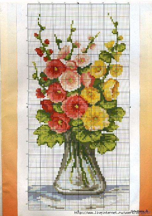 <3 Point de croix Fleurs*m@* Cross stitch