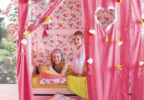 feminine Zelt einfachen Bedroom Interior Design Ideen Featuring spielen Zelten für Kinder passen alle modernen Heim-Homesthetics (18) Rosa