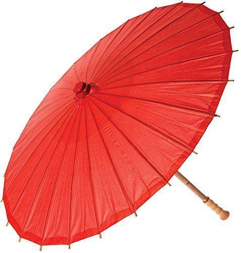 Ppower Paraguas estilo japonés chino bambú Sombrilla Paraguas de danza (Rojo) - http://comprarparaguas.com/baratos/japoneses/ppower-paraguas-estilo-japones-chino-bambu-sombrilla-paraguas-de-danza-rojo/