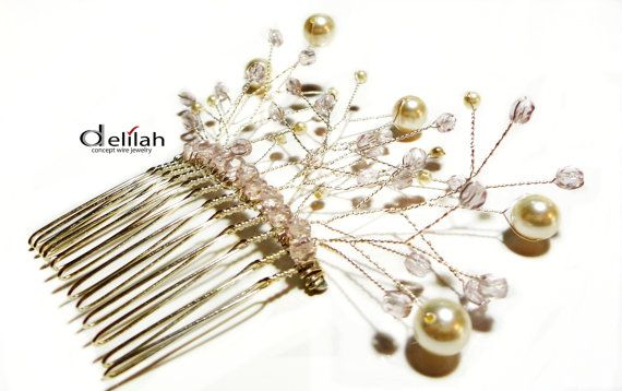 Swarovski Bridal Hair Comb Wedding Hair Accessories by mssdelilah