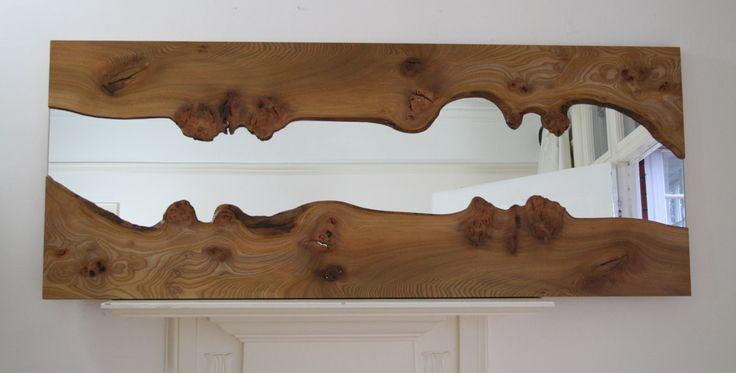 Love this idea for a mirror...Now to find some pretty wood ;)   River Mirrors - Mirrors
