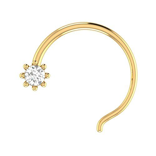 Animas Jewels 14k Gold And Solitaire Diamond Nose Ring Fo Https