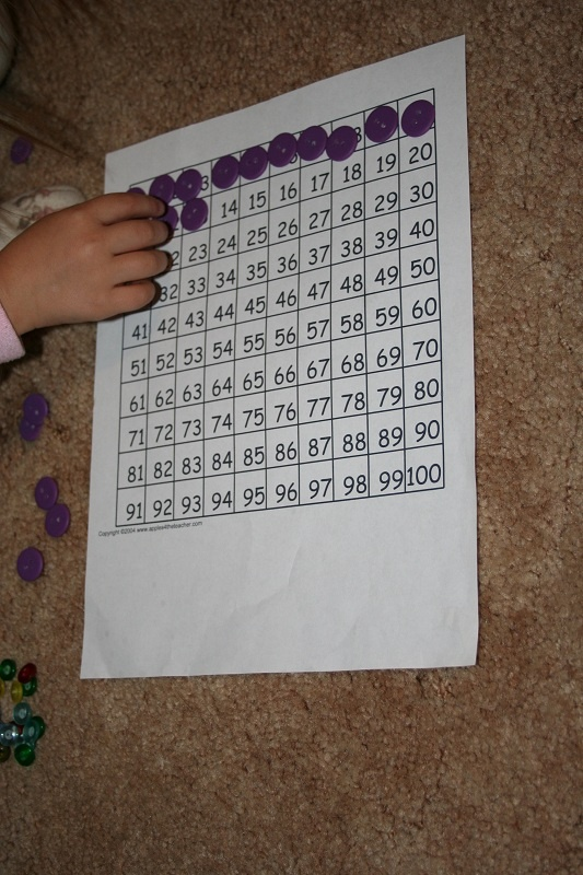how to teach kindergarten to count to 100