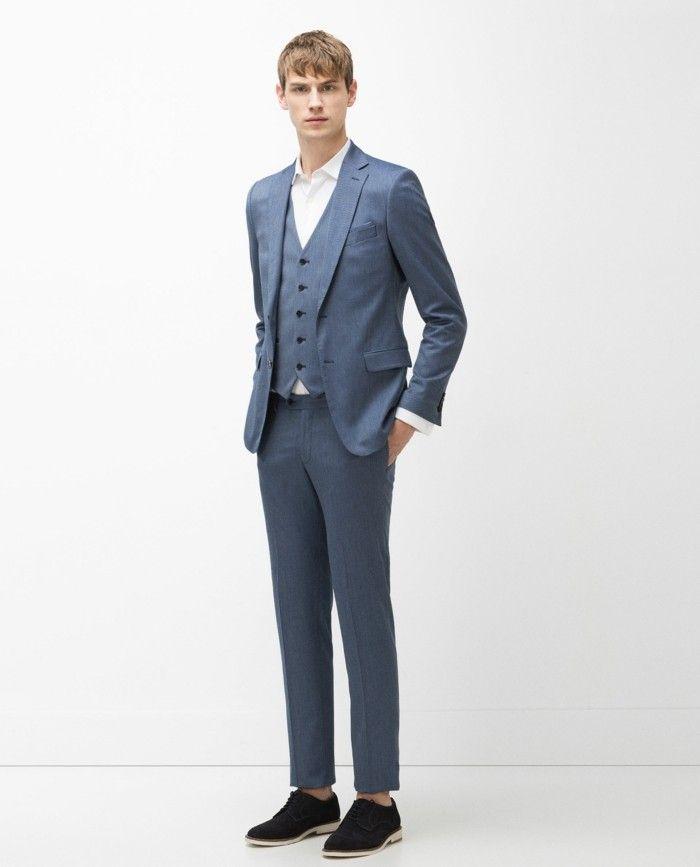 Vestito Matrimonio Uomo Azzurro : Zara proposta abito da cerimonia uomo azzurro carta da zucchero