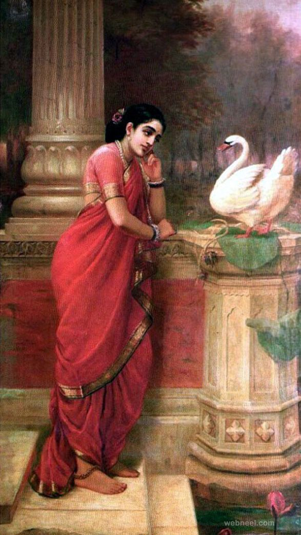 25 Best Raja Ravi Varma Paintings - 18th Century Indian Traditional Paintings. Read full article: http://webneel.com/25-best-oil-paintings-raja-ravi-varma-18th-century-indian-traditional-paintings   Follow us www.pinterest.com/webneel