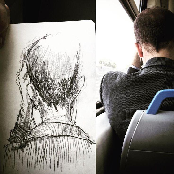 #gentequesedibujaeneltren #sketch #sketchbook #dibujo #boceto #bocetorapido