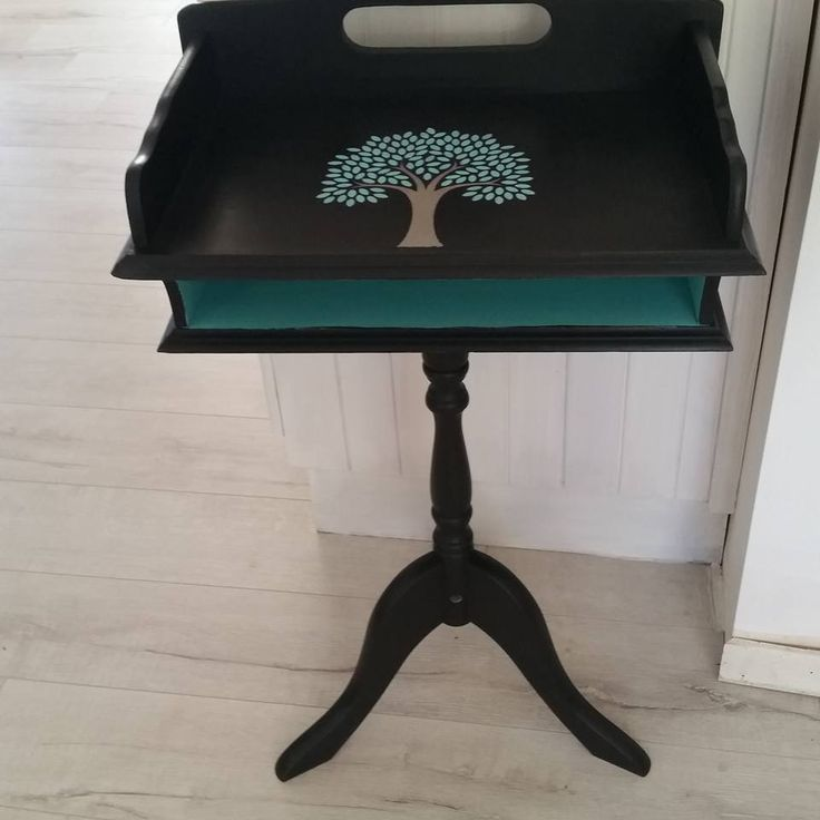 Great little vintage telephone table given a second lease on life - $75 https://www.facebook.com/All-things-old-new-again-1492151801013931/