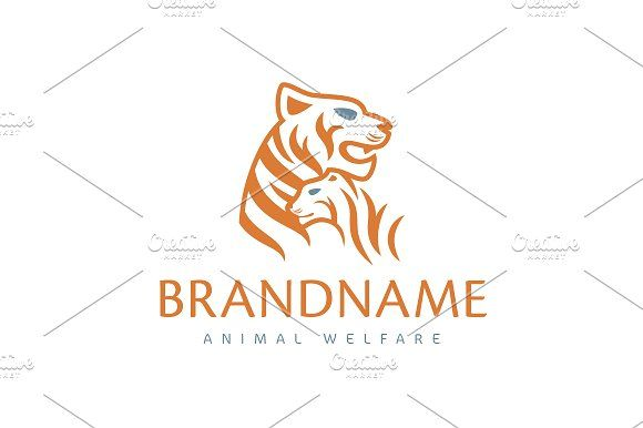 For sale. Only $29 - animal, tiger, care, family, mother, cat, wild, panther, cub, social, children, orange, memorable, modern, simple, creative, artistic, tigress, young, mentor, welfare, zoo, veterinary, pet, childcare, love, bond, logo, design, template,
