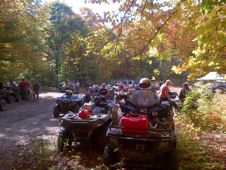 Rickwards is a place to get your ATV permits, they help organize rides, they repair and sell ATV's.  They allow ATV's to park while enjoying the trails