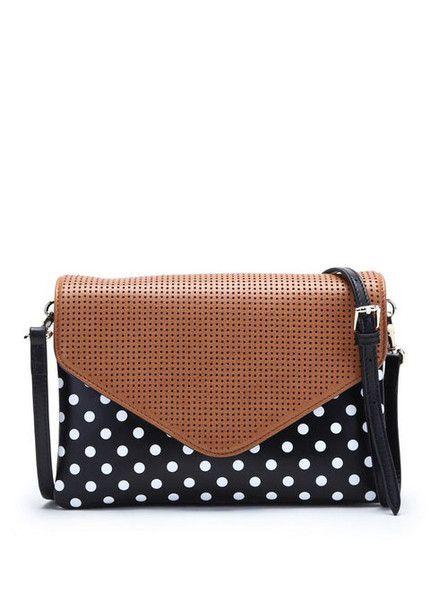 Bowie - Jamie Bag - Polka Dot - Tan - Leather $229.00